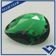 13x18 Pear Cut Green Glass Stone