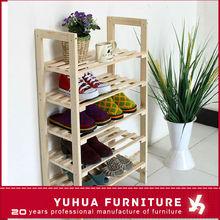 5-tier solid pine wooden shoe rack