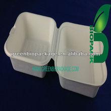 100% Eco-friendly disposable biodegradable noshery sugarcane food box