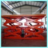 hydraulic movable double scissor car lift