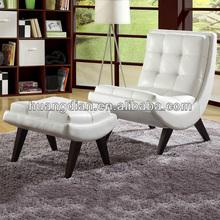 modern design single seater hotel sofa with ottoman SC2506