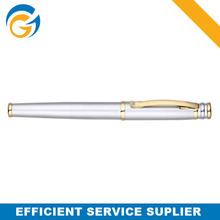 Sliver Gold Cap Metal Ball Pen