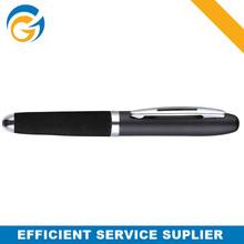 Black Cap Stylus Clip Top Grade Metal Ball Pen