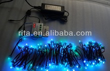 100nodes DC12V input WS2811 pixel node+TH2014-X RF controller+12V/8A power adaptor