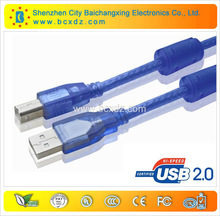 China manufacturing factory price nickel plated am to bm usb printer cable