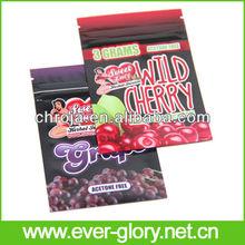 CMYK Gravures Printing And Zipper Food 3g Herbal Incense Bags