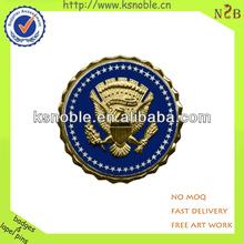 eagle logo gold metal 3d lapel pin