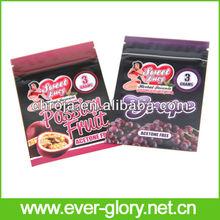 CMYK Gravures Printing And Zipper Food 3g Herbal Flexible Bags