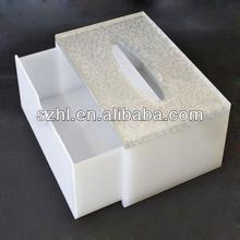 Elegant acrylic tissue/napkin box with insert holder