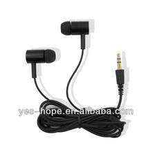 Super good quality 3.5mm stereo gold plated in ear noise isolating metal earphone for THL