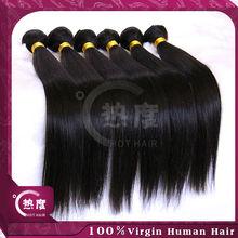 "Hot selling wholesale price 10""-30"" straight natural black human hair cheap virgin 100% unprocessed russian hair weaving"