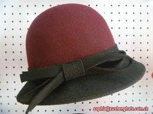 2014 Fashion Ladies 100% Wool Felt Two Tone Bucket Church /Wedding Hat