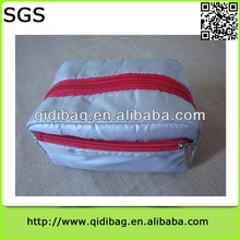 Hot-sale trendy nylon cosmetic bag with mirror
