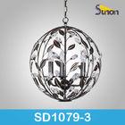 Round ball silver black iron wedding chandelier earrings(SD1079/3)
