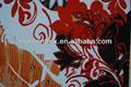 Viscose( oe) de confecção de malhas nomes de flores preto padrão