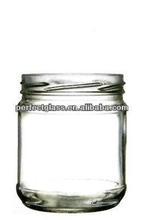500ml wide mouth flint storage glass jar