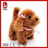Stuffed plush toy walk bark electronic dog