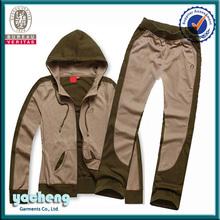 women wholesale custom two tone fleece hoodies / hoody jacket