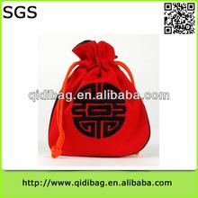 Most popular low price velvet shopping bag and shoppings