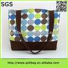 Cheap popular fashion shoulder waxed canvas tote bag