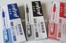 2014 Wholesale European standard school&office neutral pen 0.5 half needle tube gel pen