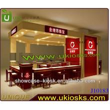 Customized TQC system jewelry display kiosk design jewelry shop design jewelry interior decoration approved CE