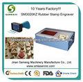 Sm3020kz laser gravura de borracha/máquina de corte