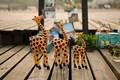 Zakka, jirafa de madera para la decoración del hogar, de madera de diseño creativo, c1621