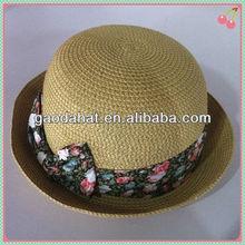 children paper straw hat,straw hat for kids,straw hat for girls