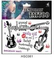 shanghai chitarra hc061 autoadesivo del tatuaggio