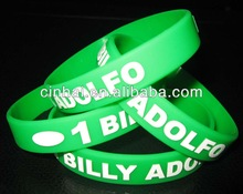 manufacture custome embossed printed popular silicone bangle