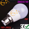 New style 3W Led bulbs wholesale SMD5730 185-265V 240lm 180degree