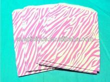 Pink Zebra stripe kraft paper bag microwave paper bag