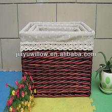 ikea corner wicker storage basket wholesale