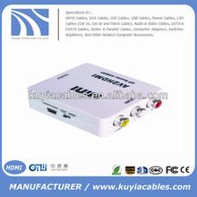 HDMI 2 AV Composite RCA CVBS Video + Audio Converter For TV PS3 VHS VCR DVD