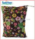 2014 Famicheer Waterproof Reusable Washable Zippered Diaper Wet Bag,Diaper Tote Dry Bag