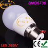 Good quality 180degree SMD5730 240lm 3W led round bulb lighting