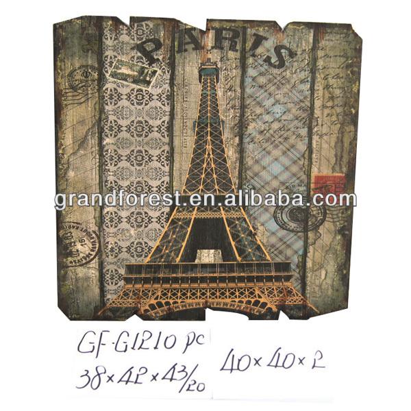 프랑스어 프랑스 에펠 타워 쌍 전나무 나무 벽 장식-가정 장식 ...