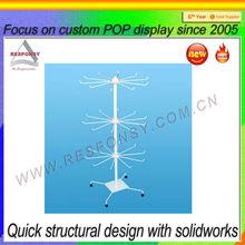 metal swing sun umbrella display stand commercial metal hanging shelf