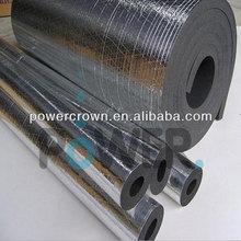 NBR close cell rubber plastic foam insulation, heat insulation rubber plastic foam pipe with aluminum foil