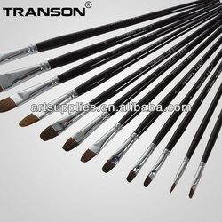 For drawing, 102 filbert head weasel hair black handle paint brush drawing tool