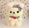 Fur soft back skin adorable plush doll cover for samsung s4