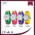 2014 nuevo estilo de los niños deportes al aire libre color brillante de dibujos animados de silicona reloj para niños