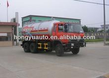 Hongyu tri-axle Dongfeng 15 cbm vácuo caminhão de sucção de esgoto