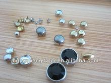 Fashionable Metal Studs For Handbags With Diamond