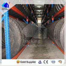Hot selling adjustable heavy duty warehouse storage powder coated car tire racking