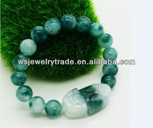Burma's delicious kind of old pit jade the mythical wild animal woven bracelet The crack defective