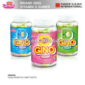 LANTOS brand 105g vitamin D halal beef gelatin gummy
