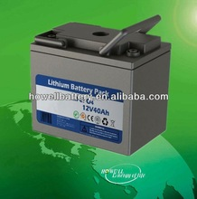 Rechargeable battery pack lifepo4 12V 40ah