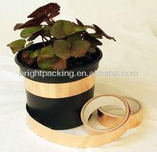 Slug barrier copper adhesive tape
